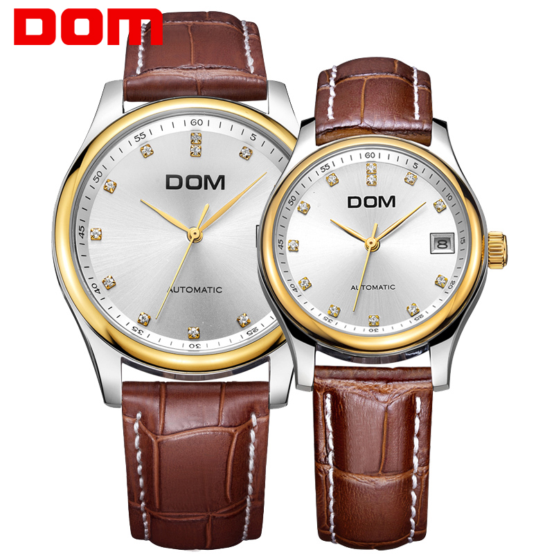 mechanical watches DOM brand luxury waterproof stainless steel Couples watches crystal hombre M95GL 7M x G95GL 7M watches international x