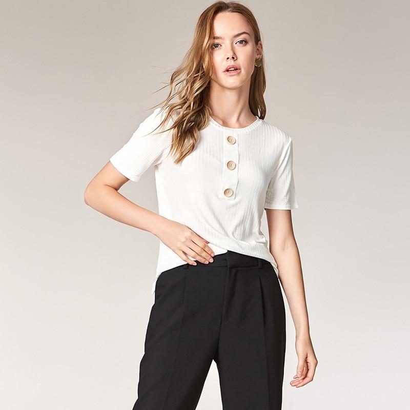 ESCALIER Sommer Kvinder Casual Shirt Fashion Tops Tees Rayon Button - Dametøj - Foto 3
