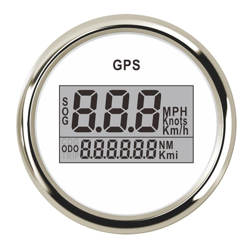 52mm Digital GPS Speedometer 0 999 MPH Km h Adjustable Universal Auto Boat Speedometer Gauge for