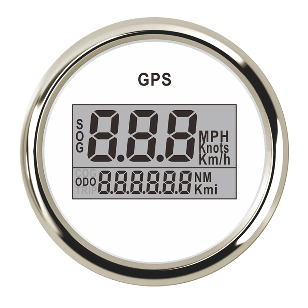 52mm Digital GPS Speedometer 0~999 MPH Display Speed Indicators 9~32V GPS Odometer for Automobile Boat Auto with Backlight 52 mm universal digital gps speedometer odometer fit car boat gps speed sensor with backlight 316 l 9 32v km h adjustable