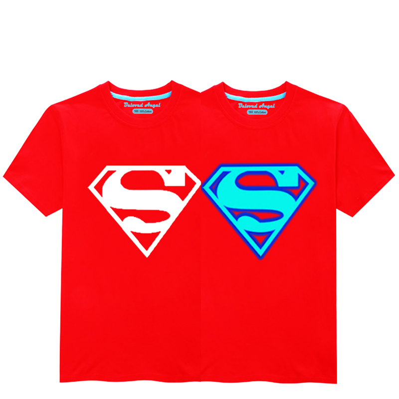 HTB1Ef05R3HqK1RjSZFkq6x.WFXac - Luminous Short Sleeves T-Shirt For Boys T Shirt Spiderman Christmas Teen Girls Tops Size 3-15 years Teenage Toddler Boy Tshirts