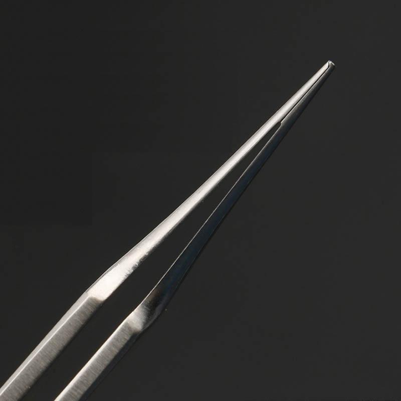 Stainless steel eye surgery gold handle tweezers double eyelid tool beauty plastic equipment tweezers toothed fat tweezers