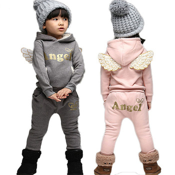 Children Clothing Set Sports Suit For Boy Winter Toddler Suits For Girls Wings Kids Tracksuit Baby School Costume Kids Clothes conjuntos casuales para niñas