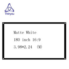 Thinyou 180 inch 16:9 Portable Projector Screen Plastic Matte White for Home theater Travel support LED Projector DLP proyector