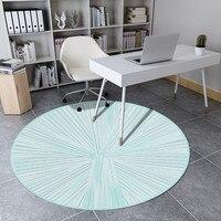 Nórdico fresco redondo tapete sala de estar crianças round tapete cadeira do computador decoração casa quarto tapete feminino yoga