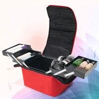 Women Fashion Makeup Organizer Box Large Capacity Travel Professional Portable Cosmetic Bag Ladies Suitcase Layers Storage