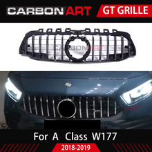 2019 New A Class GT Grill Front Bumper Racing Mesh ABS Car Styling For Mercedes A200 Sports Sedan w177 Amg grill