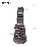 ZONAEL 21 23 26 Inch Cotton Nylon Padded Portable Bass Guitar Gig Bag Ukulele Waterproof Bag