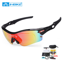 INBIKE HOT Unisex Sport Glasses Cycling Sunglasses Polarized Bicycle Glasses Outdoor Fishing Driving Protection 5 Lense Eyewear