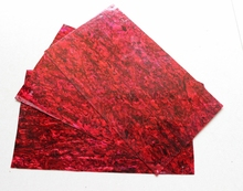 very thick red abalone shell paua shell laminate sheets 1.5mm thick 140x240mm shell paper furniture inlay guitar accessories