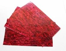 Muy grueso rojo concha de abulón paua shell laminado hojas de 1.5mm de espesor 140x240mm shell incrustación de muebles de papel accesorios de guitarra