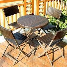 Складные открытые столы и стулья для отдыха на открытом воздухе, Балконный двор, открытый сад, PE ротанг, стул и стол, комбинация