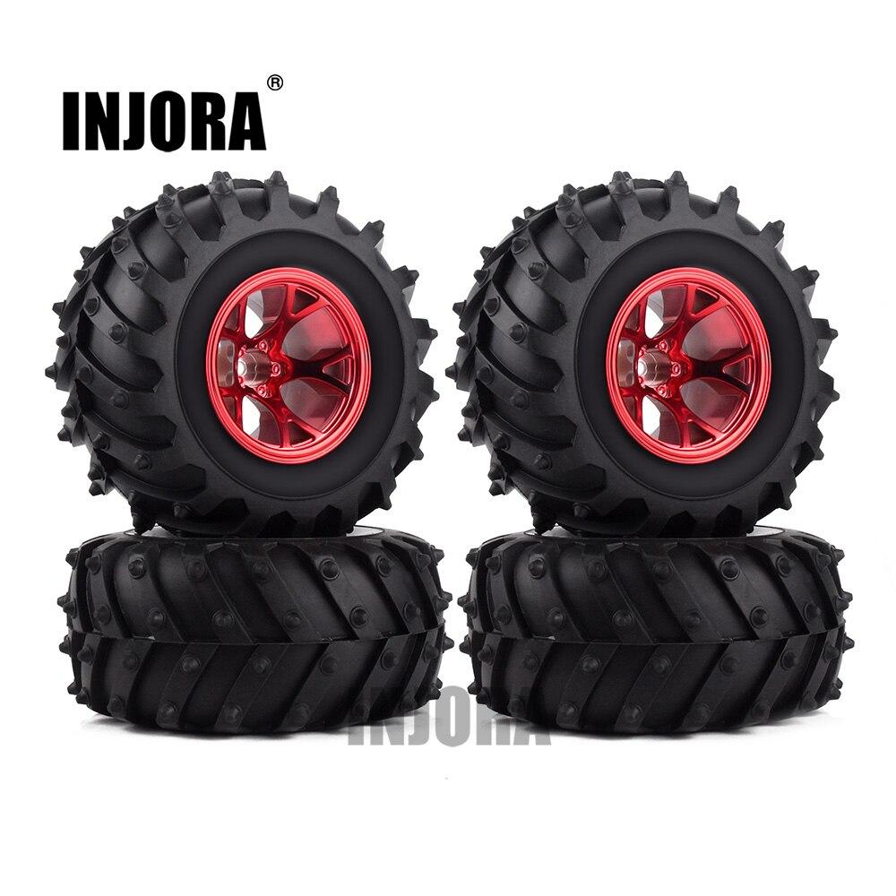 4 piezas RC monstruo de llanta de rueda de camión de neumáticos Kit para las 1:10 Traxxas Tamiya HSP HPI Kyosho RC coche de goma neumáticos partes
