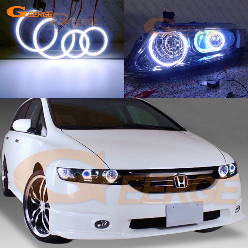 For HONDA ODYSSEY JDM RB1 RB2 2003-2008 XENON HEADLIGHT Excellent Ultra bright illumination COB led angel eyes kit halo rings новый генератор подходит для honda accord odyssey 2 3l f20b 2 0l oem 31100 p5m 0030