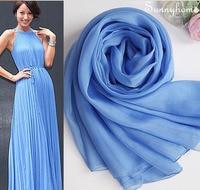 Hijab Under scarf 100% Pure Silk Woman Headband Fashion Silk Echarpe Femme Bufandas Blue Brand Designer Scarves Muslim Niqab