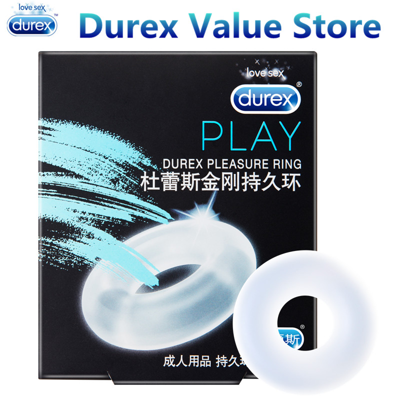 Durex Pleasure Ring Enlargement Pro Extender Firmer Erection Silicone Penis Cock Ring Silicone Underwear Sex Toys for Men erection ring set package of 4