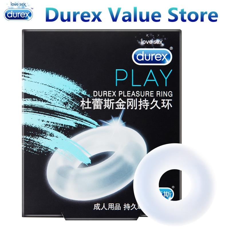 Durex Pleasure Ring Enlargement Pro Extender Firmer Erection Silicone Penis Cock Ring Silicone Underwear Sex Toys For Men