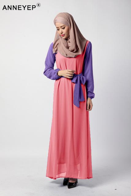 Fashion abaya muslim girl long dress turkish women clothing burqa plus size dubai arab djellaba chifon dress