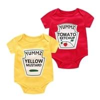 Infant Baby 6 18M Unisex Romper Short Sleeve Letter Print Rompers Kids Girls Boys Jumpsuit Newborn Romper Clothes Playsuit