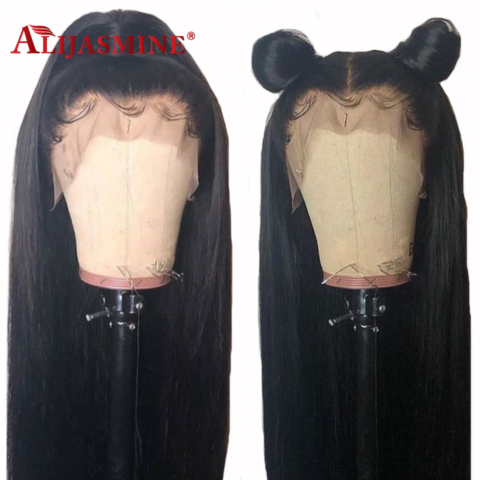 130 150 180 Density Straight Lace Front Human Hair Wigs With Baby Hair For Black Women