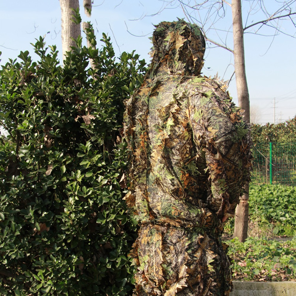 CS Hunting clothes New 3D maple leaf Bionic Ghillie Suits Yowie sniper birdwatch airsoft Camouflage Clothing jacket and pants