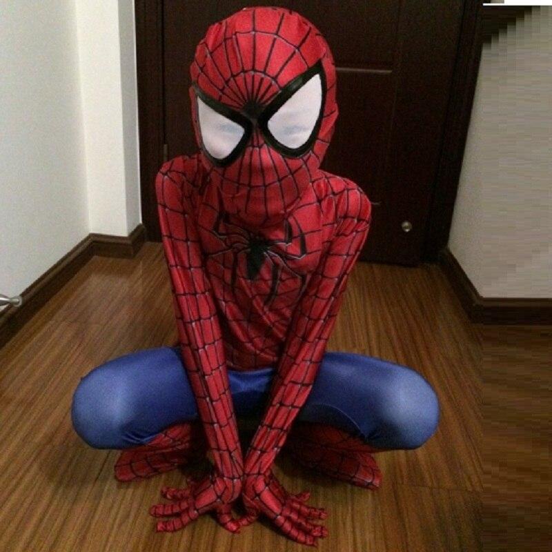 Zentai spiderman anzug die amazing spider man cosplay jungen kind ...