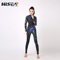 Long sleeve one piece submersible service submersible clothing one piece thermal sunscreen surf clothing for 3mm wet suit