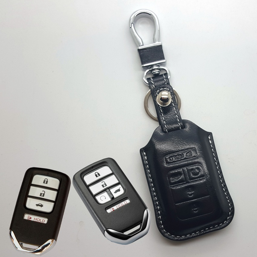 Aliexpress.com : Buy Leather Key Fob Cover Case for Honda Civic 2016 Cr v Accord 2017 2018 2019 ...