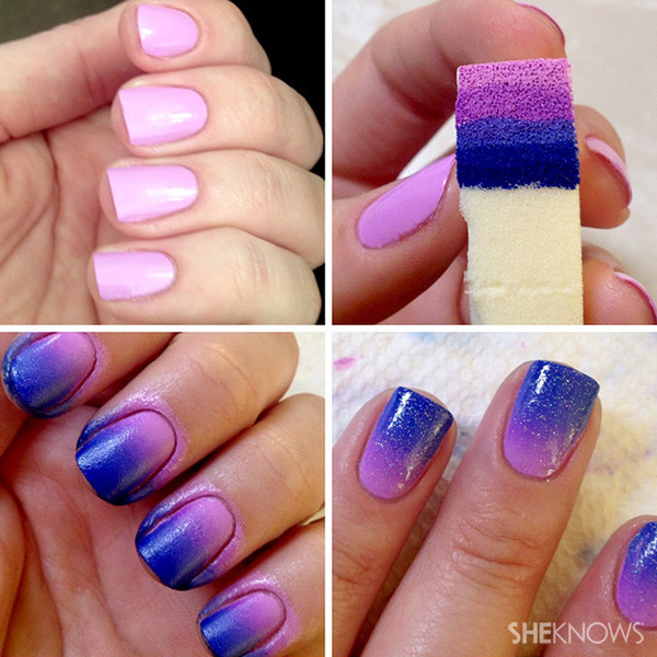 2016 Gradient Nails Soft Sponges Buffer For Color Fade Manicure Nail Polish Tools Art