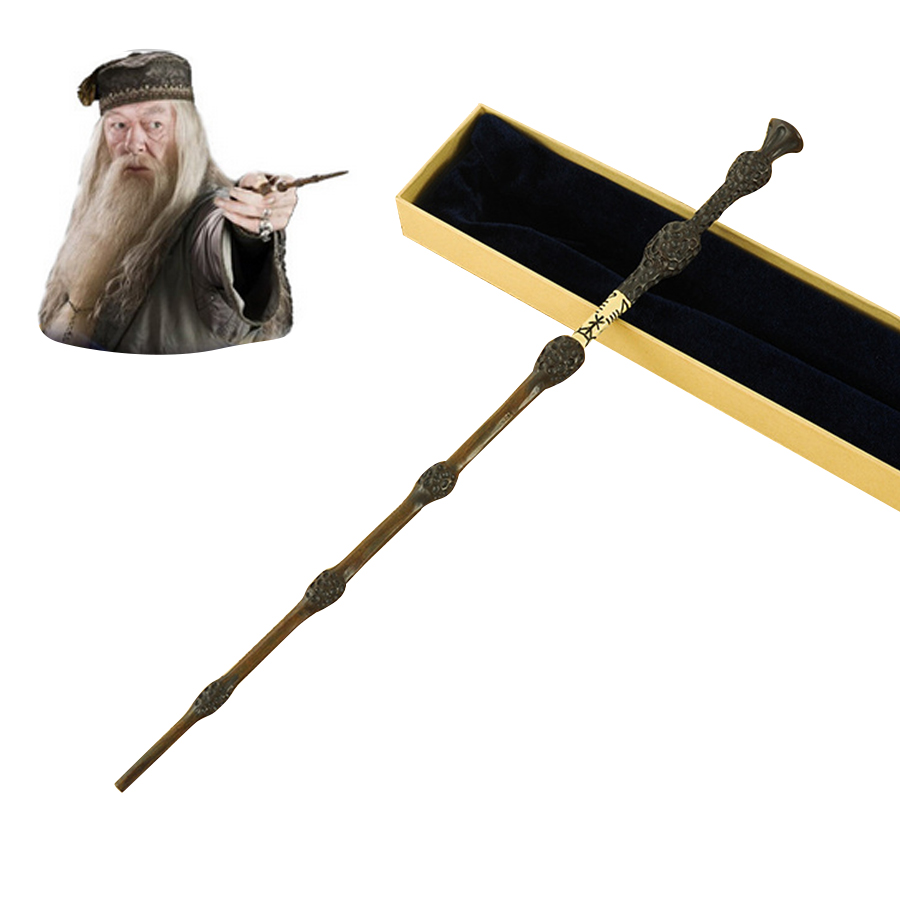Metal Core Albus Dumbledore Magic Wand/ Potter Magical Wands/Quality Gift Box Packing for harri potter cosplay Free Shipping