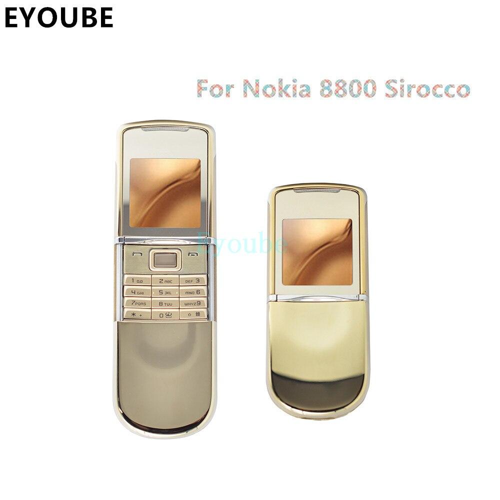 imágenes para Para Nokia 8800 Sirocco Cuerpo Reemplazo de Oro/Plata/negro Color de La Cubierta Completa del Caso para Nokia 8800 siroco