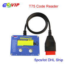 5PCS/LOT Professional Auto Code Reader T75 for V–ol-vo OBD2 Code Scanner Original Leagend Car Code Reader T75 for V –ol-vo