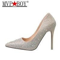 MVP BOY designer shoes women luxury 2018 brand pink pumps crystal ladies rhinestone wedding shoes red high heels extreme valenti