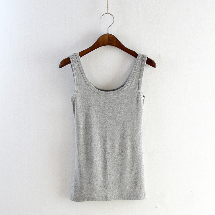 Women Spring Summer   Tank     Tops   Sexy Basic Camisole Fitness Sleeveless U Neck Loose Vest T Shirt Slim Casual Woman Clothes