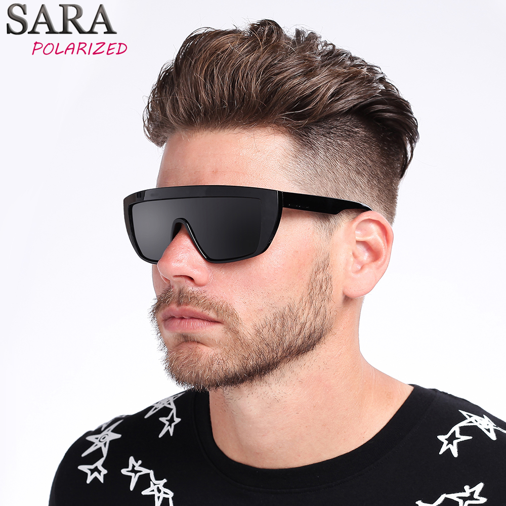 SARA Brand Classic Black Sport Polarized Mens Sunglasses Women Men Driving Sun Glasses for man Clout goggles Eyewear Oculos 9014
