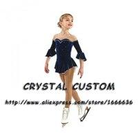 Катание на коньках платье детей новый бренд Vogue Фигурное катание Платья для женщин для конкурса dr2825