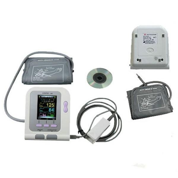 Color CONTEC08A Digital Blood Pressure Monitor Upper Arm NIBP + Software + Adult SPO2 PorbeColor CONTEC08A Digital Blood Pressure Monitor Upper Arm NIBP + Software + Adult SPO2 Porbe
