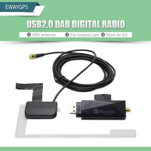 Тюнер Приемник USB stick DAB DAB Радио в Машине коробка для Универсального Android-автомобильный DVD DAB + антенна usb dongle для Android автомобильный dvd плеер