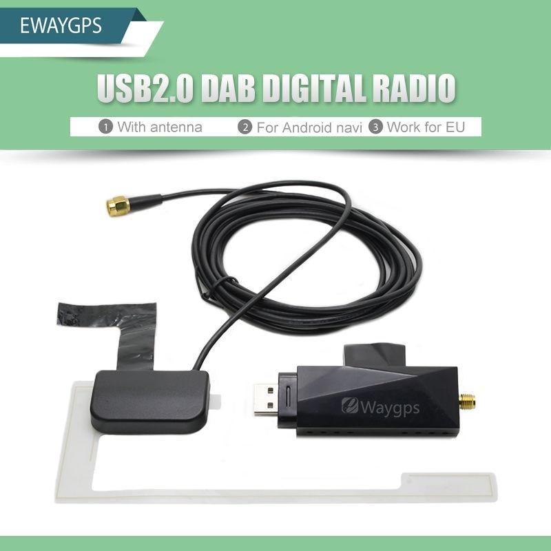 DAB Car Radio Tuner Receiver USB stick DAB box for Universal Android Car DVD DAB+ antenna usb dongle Digital audio broadcasting