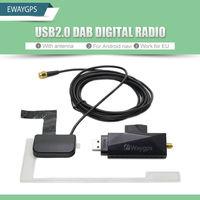 DAB için Araba Radyo Tuner Alıcı USB sopa DAB kutusu evrensel Android Araba DVD DAB + anten usb dongle Dijital ses yayın