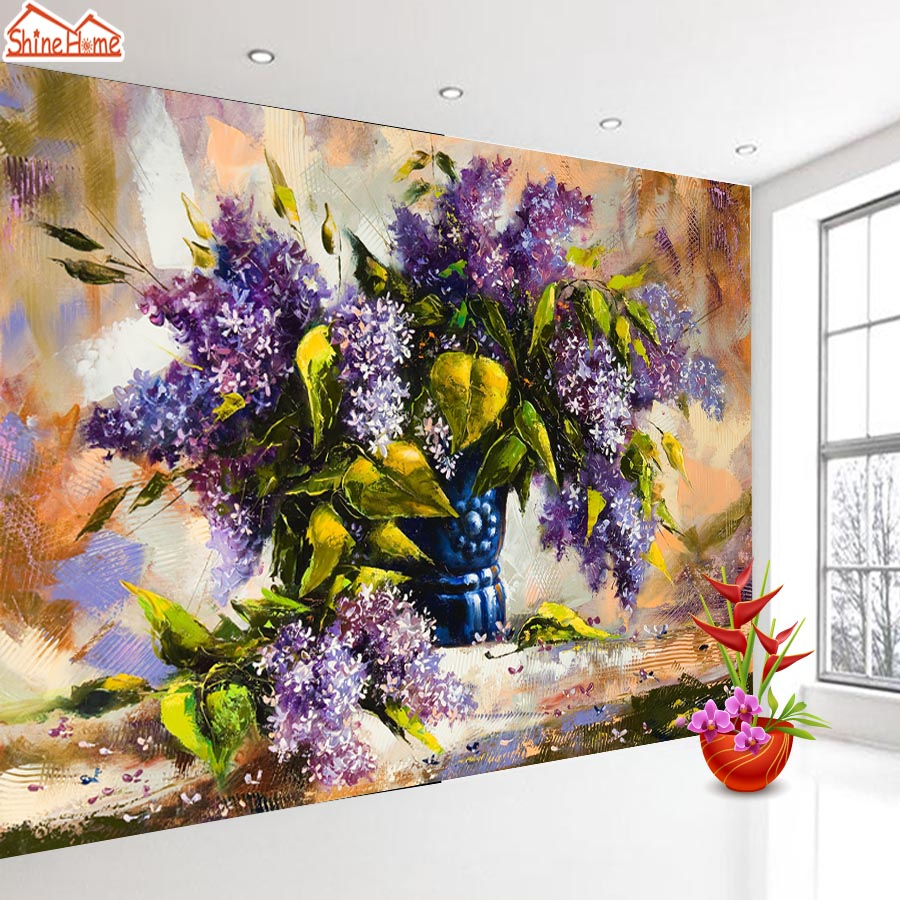 ShineHome-Large Flower 3d Nature Wallpaper Wallpapers Photo Walls Murals for 3 d  Living Room Background Roll 3d Wall Paper shinehome sunflower bloom retro wallpaper for 3d rooms walls wallpapers for 3 d living room home wall paper murals mural roll