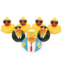 Classic Floating Ducks Cute Baby Water Bath Toys The America President Donald John Trump Rubber Duck
