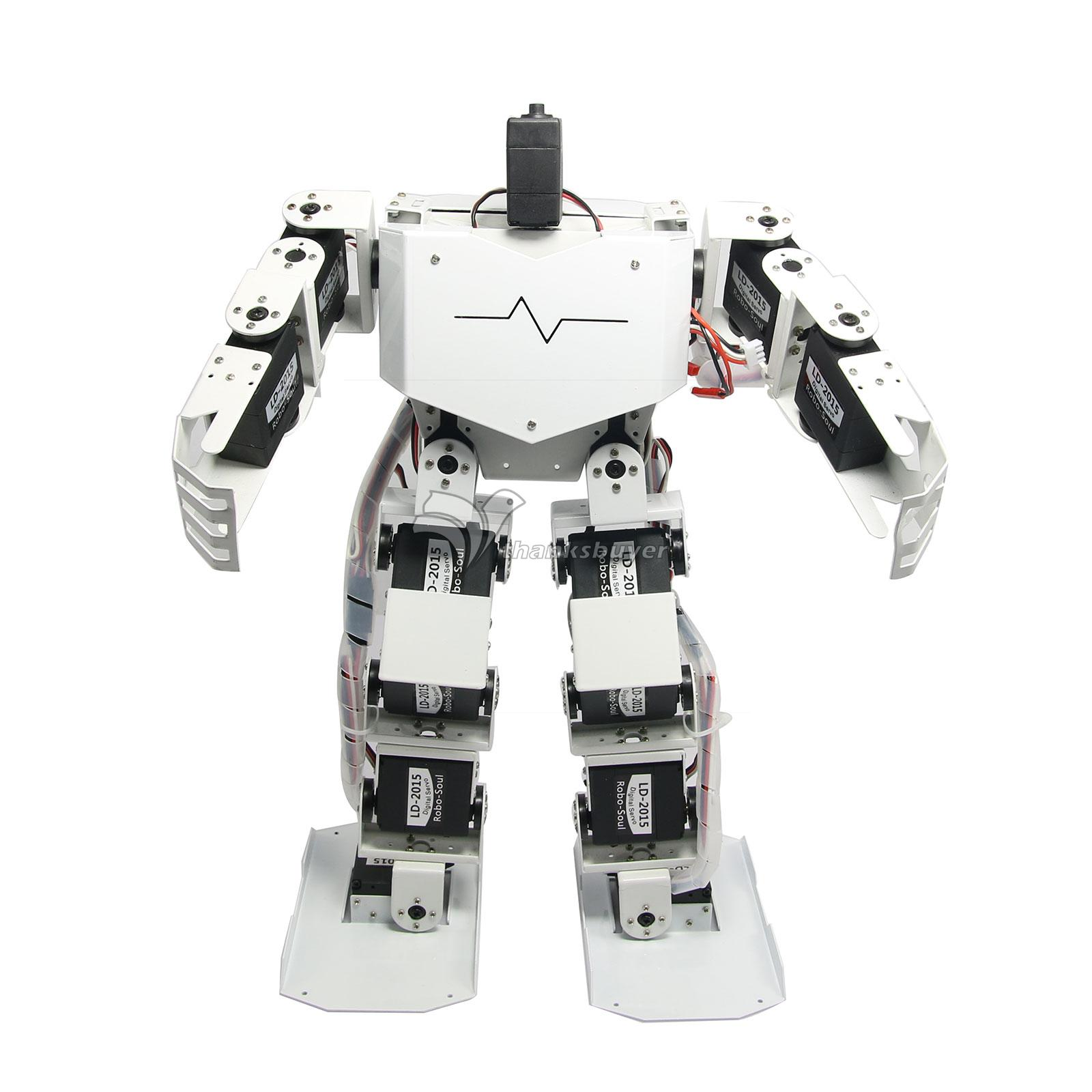 17DOF Robo-Soul H3.0 Biped Robotics Two-Legged Human Robot Aluminum Frame Kit Only No Servos White new 17 degrees of freedom humanoid biped robot teaching and research biped robot platform model no electronic control system