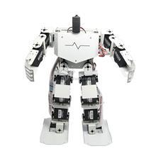 17DOF Robo-Soul H3.0 Biped Robotik Bacaklı İnsan Robot Alüminyum Çerçeve Kiti Sadece Hiçbir Servolar Beyaz