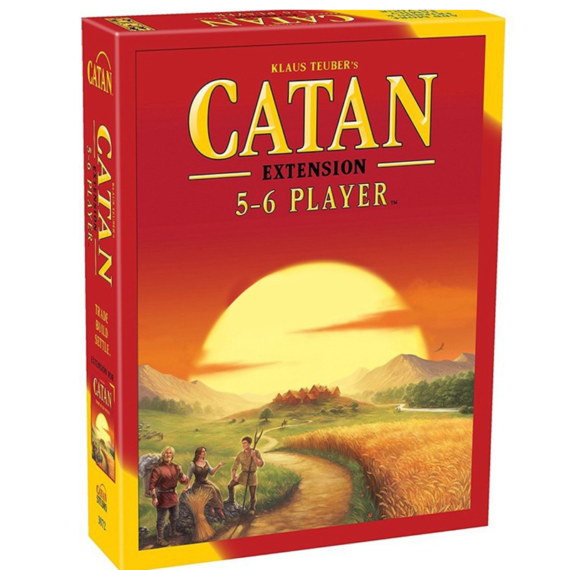 2018 Catan Board Game: Trade Build Settle 5 6 Player Extension pack Catan family party game Entertainment board game card game