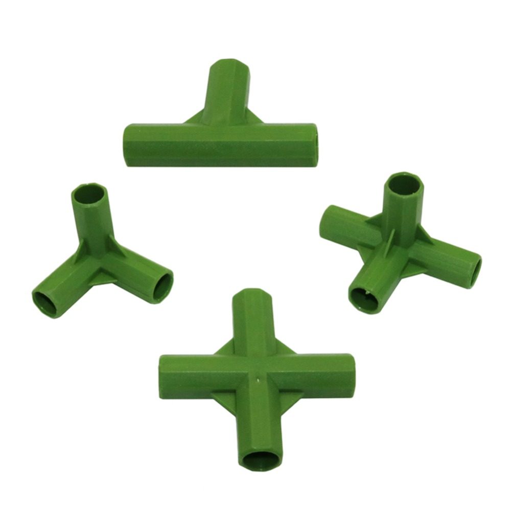 Plastic Flower Support Lawn Stakes Edging Corner Connectors For 11mm Plant Stakes Bracket Connector 5 Pcs