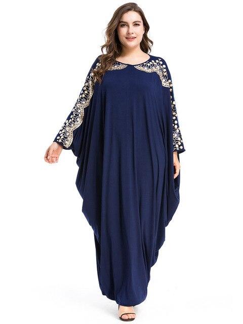 Long Muslim Dress Loose Islamic Abayas Dubai Women Clothing Turkish Kaftan Turkey Arab Robe 4