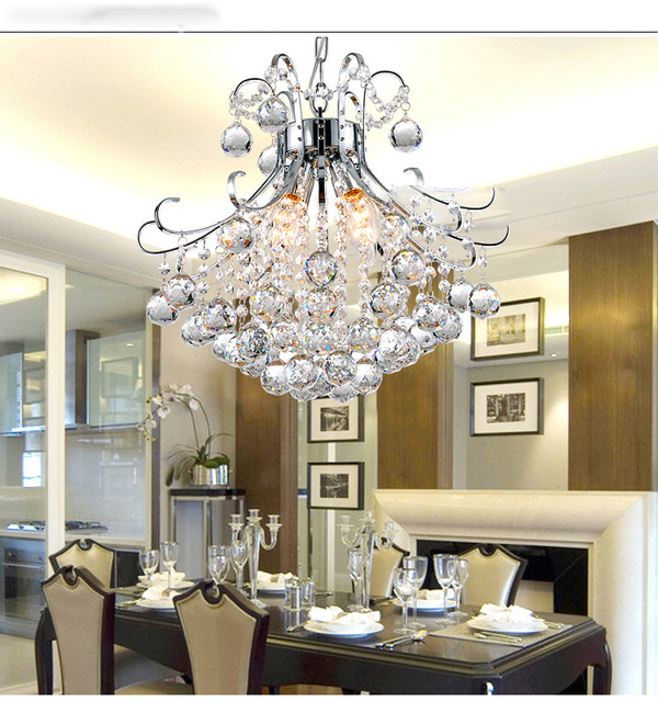New modern godiva mini pendant crystal chandelier light in chrome new modern godiva mini pendant crystal chandelier light in chrome hanging kit lighting guaranteed luster aloadofball Choice Image