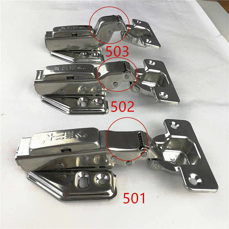 High quality Stainless steel removable Hinges Hydraulic Furniture Hinges Damper Buffer Cabinet Cupboard Door Hinges Soft Close