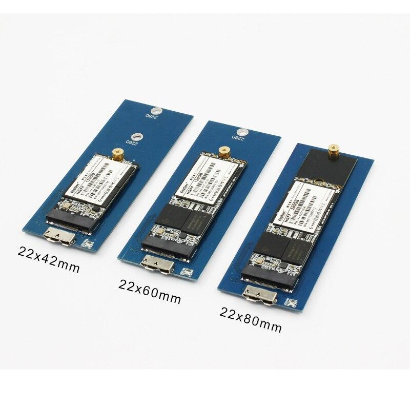 USB 3.0 HDD Case M2 To SATA SSD Hard Drive External HDD Case For Ssd 2242 2260 2280 Ssd Case Hd Externo Adapter For B Key M2 Ssd